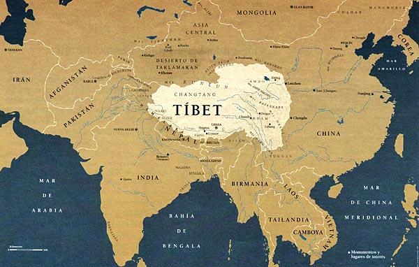 Resultado de imagen de el tibet mapa