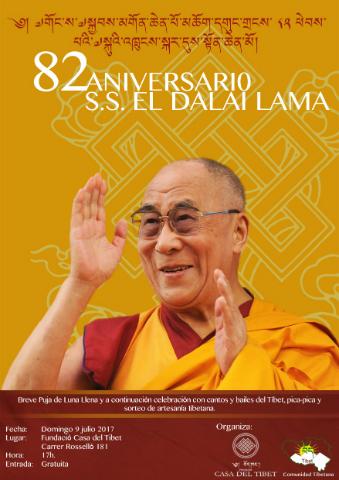 82è aniversari de Sa Santedat el Dalai Lama