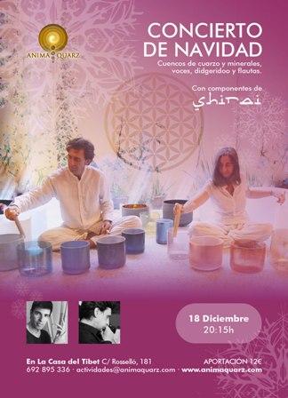 CONCIERTO de NAVIDAD: Meditación con cuencos de cuarzo y minerales acompañados de otros instrumentos y voces