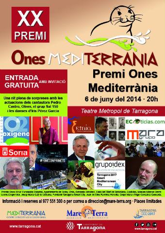 HOY: Entrega de los XX Premios ONES MEDITERRÀNEA de Tarragona. La Fundació Casa del Tibet está entre los premiados.
