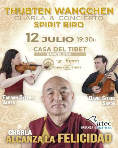 Charla con Thubten Wangchen y concierto con el dueto Spirit Bird