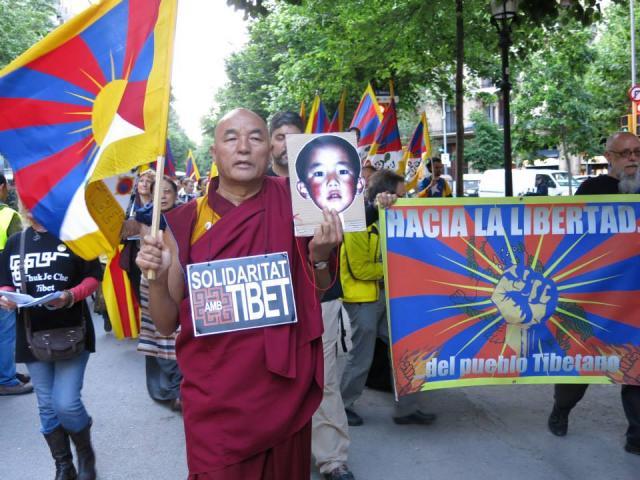 Marxa Pacífica i Concentració per la llibertat del Panchen Lama segrestat pel Govern de la Xina