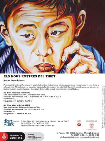 """EXPOSICIÓ: """"Els nous rostres del Tibet"""". Pinturas: Andréa López Iglesias. Relats: Alba Solà"""