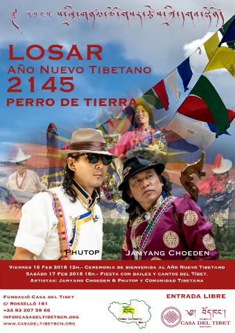 LOSAR Any Nou Tibetà 2145 GOS DE TERRA