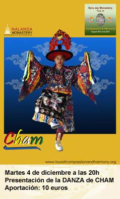 danza de CHAM con los Monjes de Sera Jey