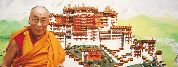 S S Dalai Lama en Fundacio Casa del Tibet