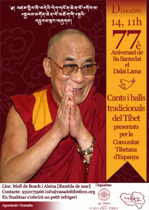 Gran Festa al Port Vell pel 77è aniversari de Sa Santedat el Dalai Lama