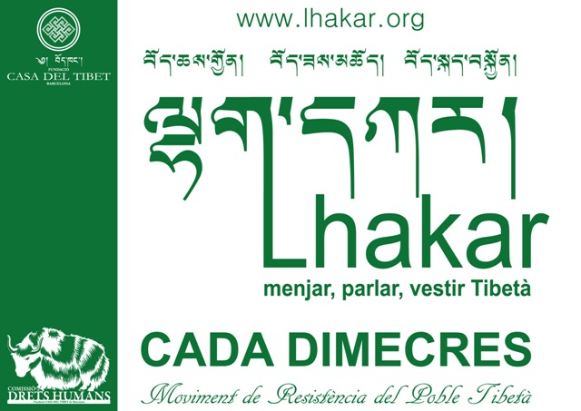 AVUI: Lakhar o Dimecres Blanc - acció a la Plaça Universitat de Barcelona de 19h a 20h
