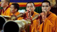 Monjes en el Monasterio de Dharanshala