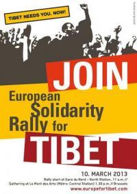 COMUNICADO DE PRENSA:   Mobilización Europea en Solidaridad con el Tíbet - Bruselas 10 Marzo 2013