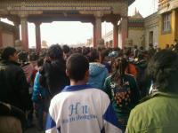 Miles de esudiantes tibetanos se manifiestan en el Tíbet