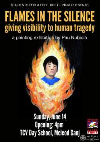 """NP: Exposició """"Flames en el Silenci"""" arriba a Dharamsala, a l'India"""