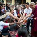 Imágenes hechas en el templo principal de Dharamsala durante  las celebraciones en honor al 77º cumpleaños de Su Santidad el Dalai Lama este 6 de julio de 2012