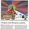 LA VANGUARDIA: Choques entre tibetanos y policias