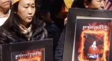 Manifestación a favor del Tibet. (Imágen de video)